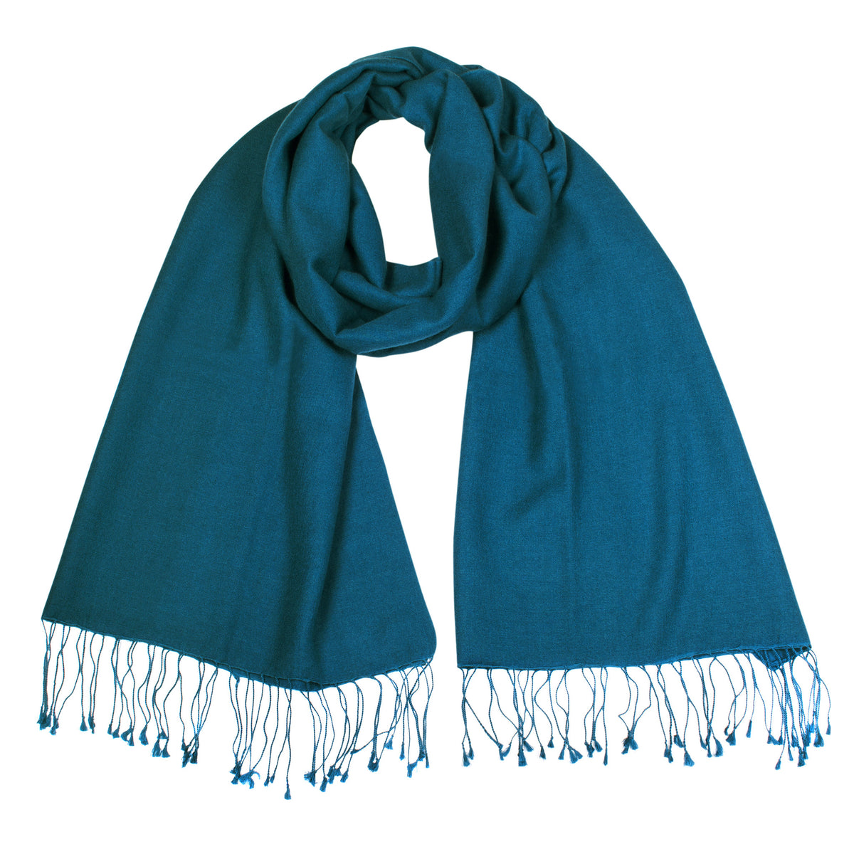 Teal | Blue Pashsmina Stole | buy now at The Cashmere Choice London