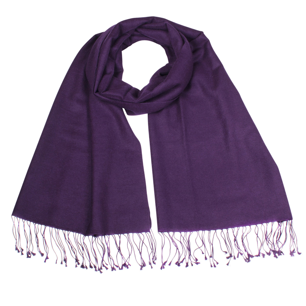 Aubergine | Purple Pashsmina Stole | buy now at The Cashmere Choice London