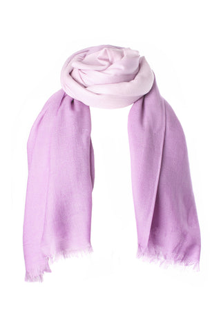 Lilac Shaded Light Cashmere Stole | buy now at The Cashmere Choice London