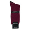 Wine Cashmere Blend Contrast Socks for Men | buy now at The Cashmere Choice London