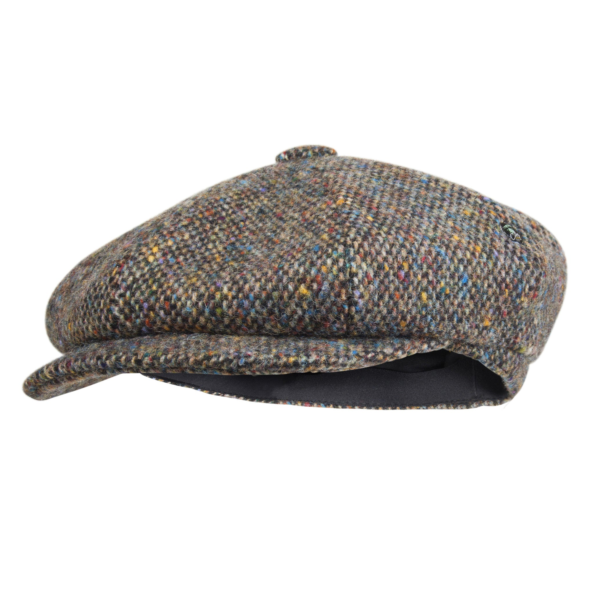 Donegal Tweed bakerboy cap | Multi Coloured | buy now at The Cashmere Choice London
