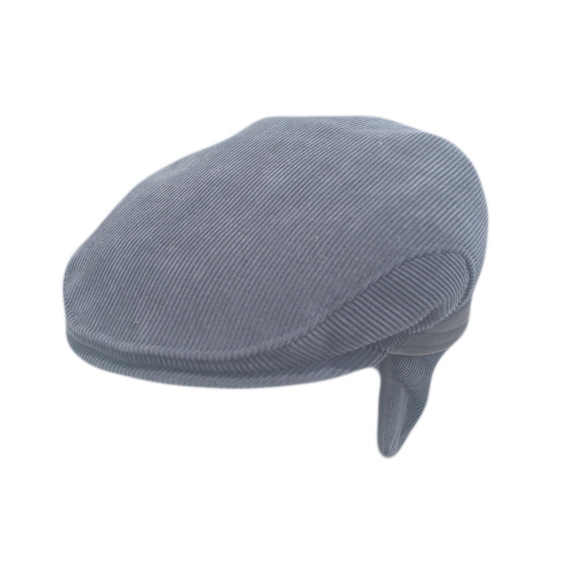 Black corduroy cap with ear flaps | buy now at The Cashmere Choice London