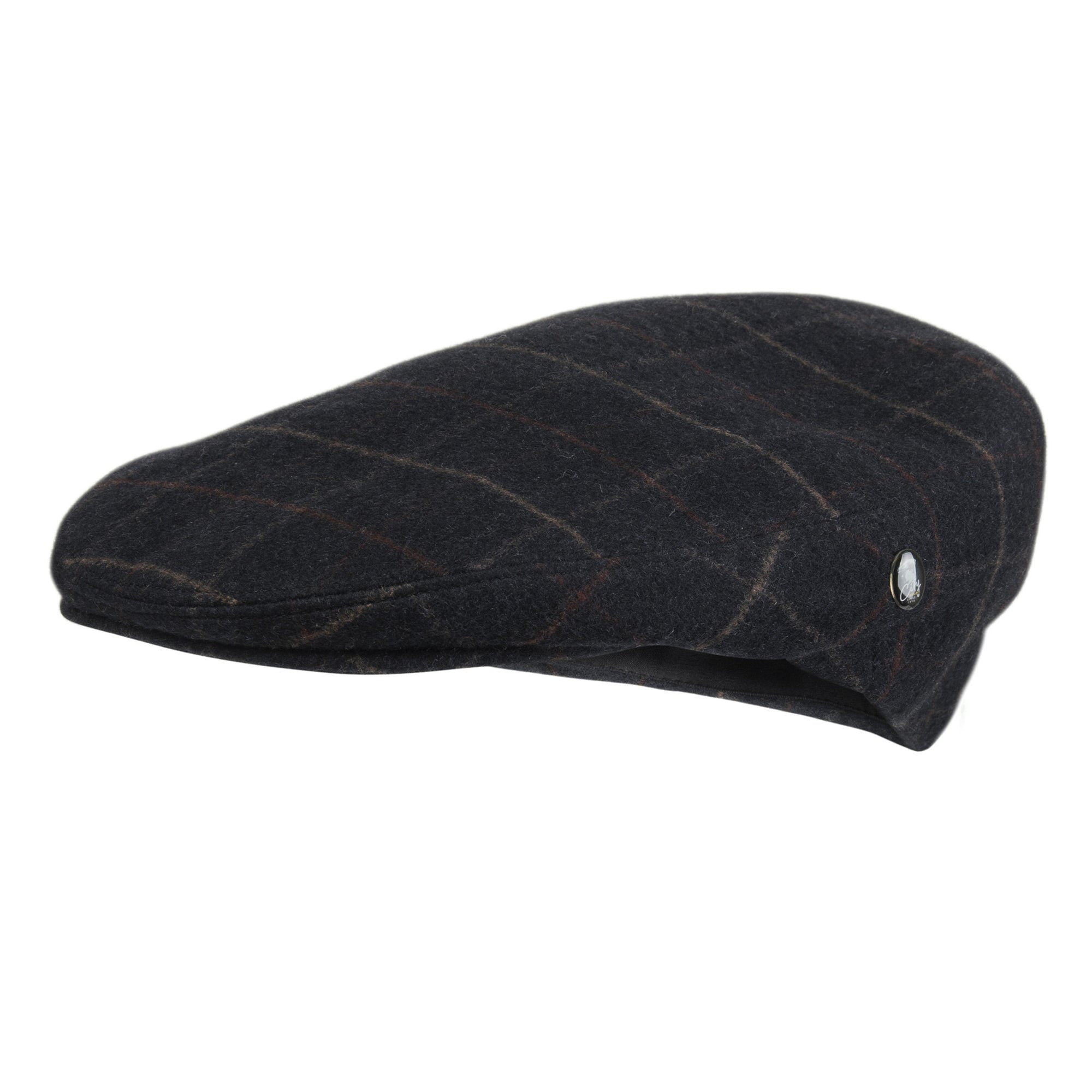 09a0caf7 Navy Blue Check Mens Flat Cap   Loden by City Sport  buy now at The ...