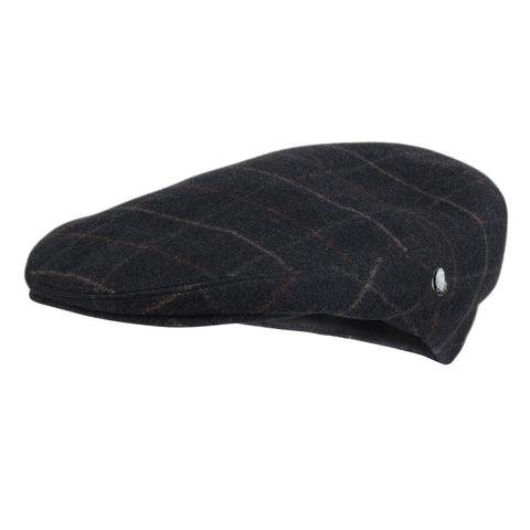 Navy Blue Check Mens Flat Cap | Loden by City Sport| buy now at The Cashmere Choice London