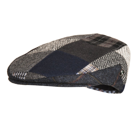 Unique Blue Patch Flat Cap | buy now at The Cashmere Choice London