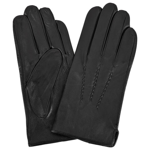 Mens Black Leather Gloves | buy now at The Cashmere Choice London