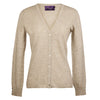Ladies Fitted V Neck Cashmere Cardigan | Beige | Shop at The Cashmere Choice | London