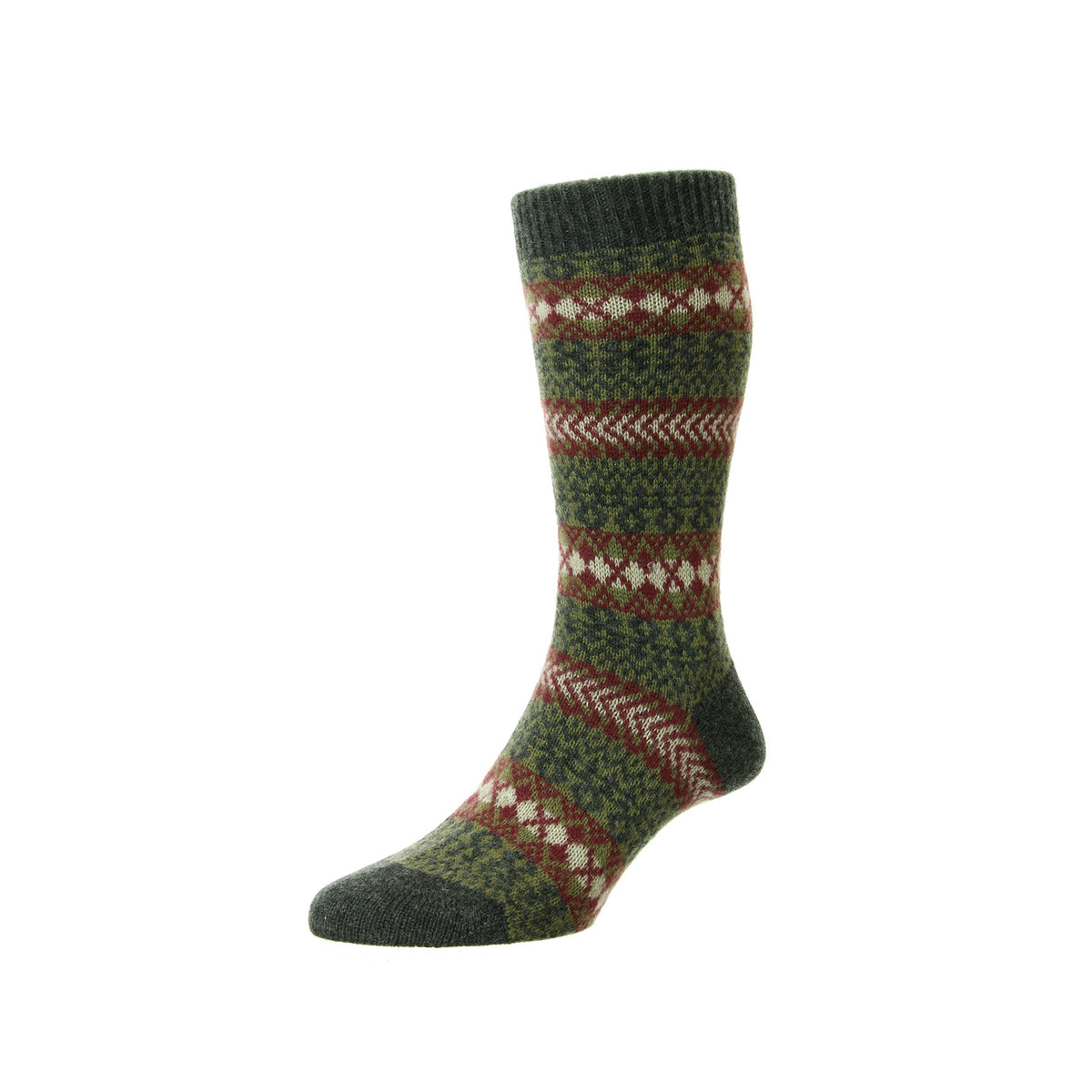 Fairisle Cashmere Socks | Calf Length Sock | buy now at The Cashmere Choice London