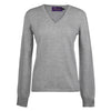 Light Grey Ladies Fitted Cashmere V Neck | buy now at The Cashmere Choice London