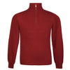Mens Burgundy Wine Cashmere Sweater | Jumper | Zip Collar | buy now at The Cashmere Choice London