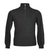 Mens Charcoal Grey Cashmere Sweater | Jumper | Zip Collar | buy now at The Cashmere Choice London