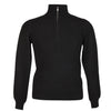 Mens Black Cashmere Sweater | Jumper | Zip Collar | buy now at The Cashmere Choice London
