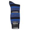 Navy Blue Cashmere Blend Stripe Socks for Men | buy now at The Cashmere Choice London