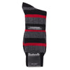 Black Red Cashmere Blend Stripe Socks for Men | buy now at The Cashmere Choice London