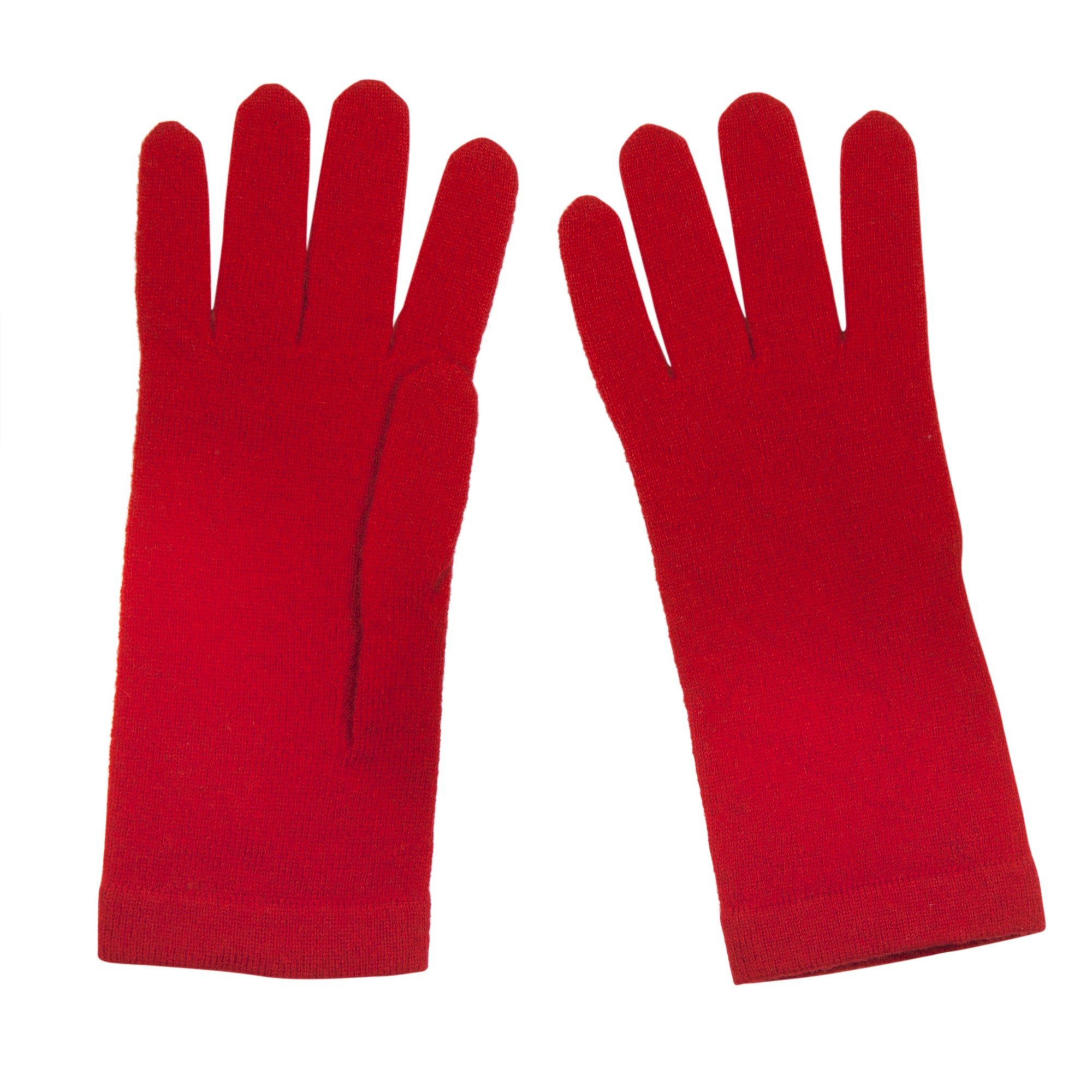 Tomato Red Ladies Cashmere Gloves | buy now at The Cashmere Choice London