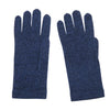 Blue Black Marl Ladies Cashmere Gloves | buy now at The Cashmere Choice London