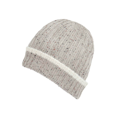 Natural lambswool beanie hat | buy now at The Cashmere Choice London