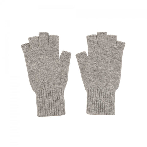 Light grey cashmere fingerless gloves | buy now at The Cashmere Choice | London