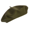 Dark Green French Beret | Wool Beret| buy now at The Cashmere Choice London