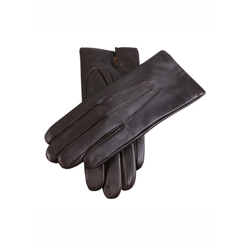 brown mens cashmere lined fine leather gloves | buy now at The Cashmere Choice London