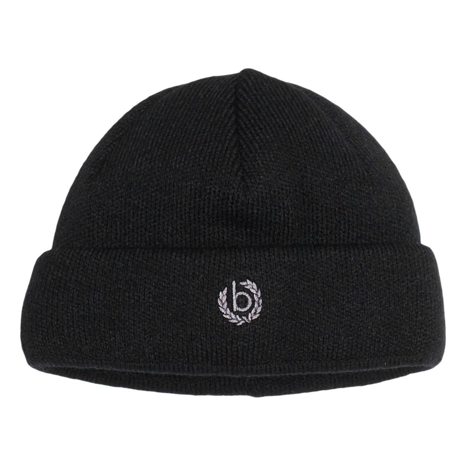 Black Wool Warm Turn-up Beanie | buy now at The Cashmere Choice London