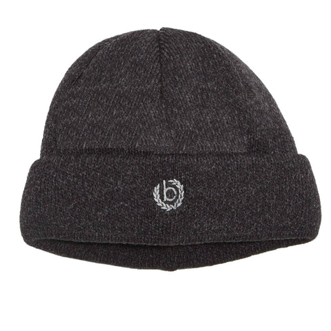Charcoal Grey Wool Warm Turn-up Beanie | buy now at The Cashmere Choice London