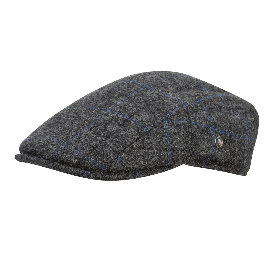 City Sport - Comfort Fit - Wool Duckbill Cap - Grey Check 3191 | buy now at The Cashmere Choice | London