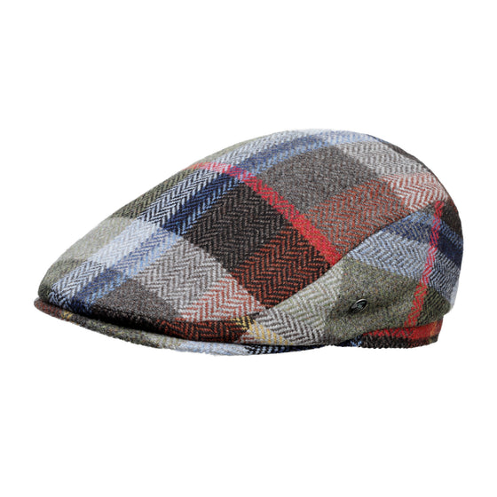 Cashmere wool fashion cap | Bright Check | buy now at The Cashmere Choice London
