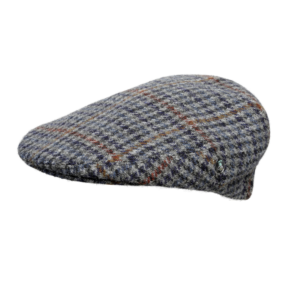 Harris Tweed wool cap | Hounds Tooth | buy now at The Cashmere Choice London
