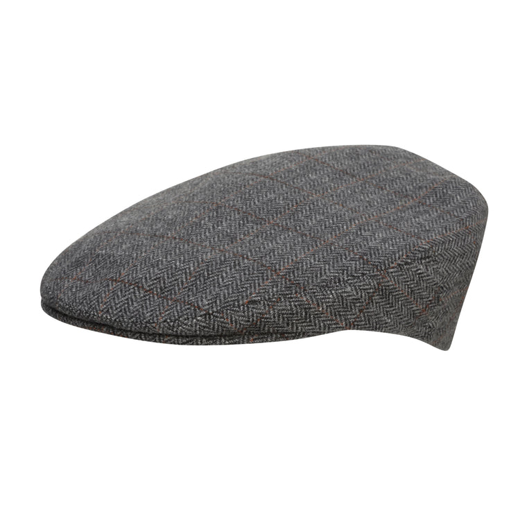 7dbc2aa2593 City Sport - Cool Comfort - Wool Flat Cap - Grey Herringbone 3140