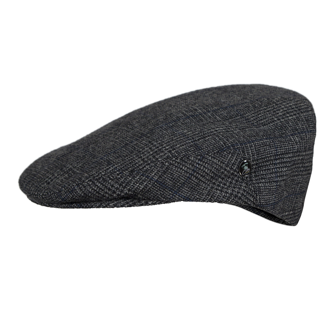 Wool Flat Cap | Grey Prince Charlie Check | buy now at The Cashmere Choice London
