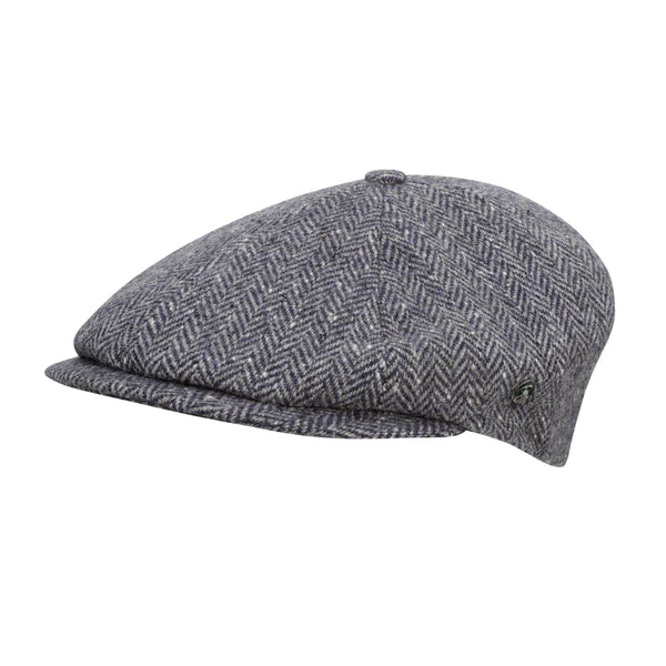 fc9c7f21 City Sport - Donegal Tweed 6 Piece News Boy Cap - Grey Speckled Herrin -  The Cashmere Choice