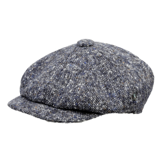 Donegal Tweed Baker Boy Cap | Blue Grey Speckled | buy now at The Cashmere Choice London