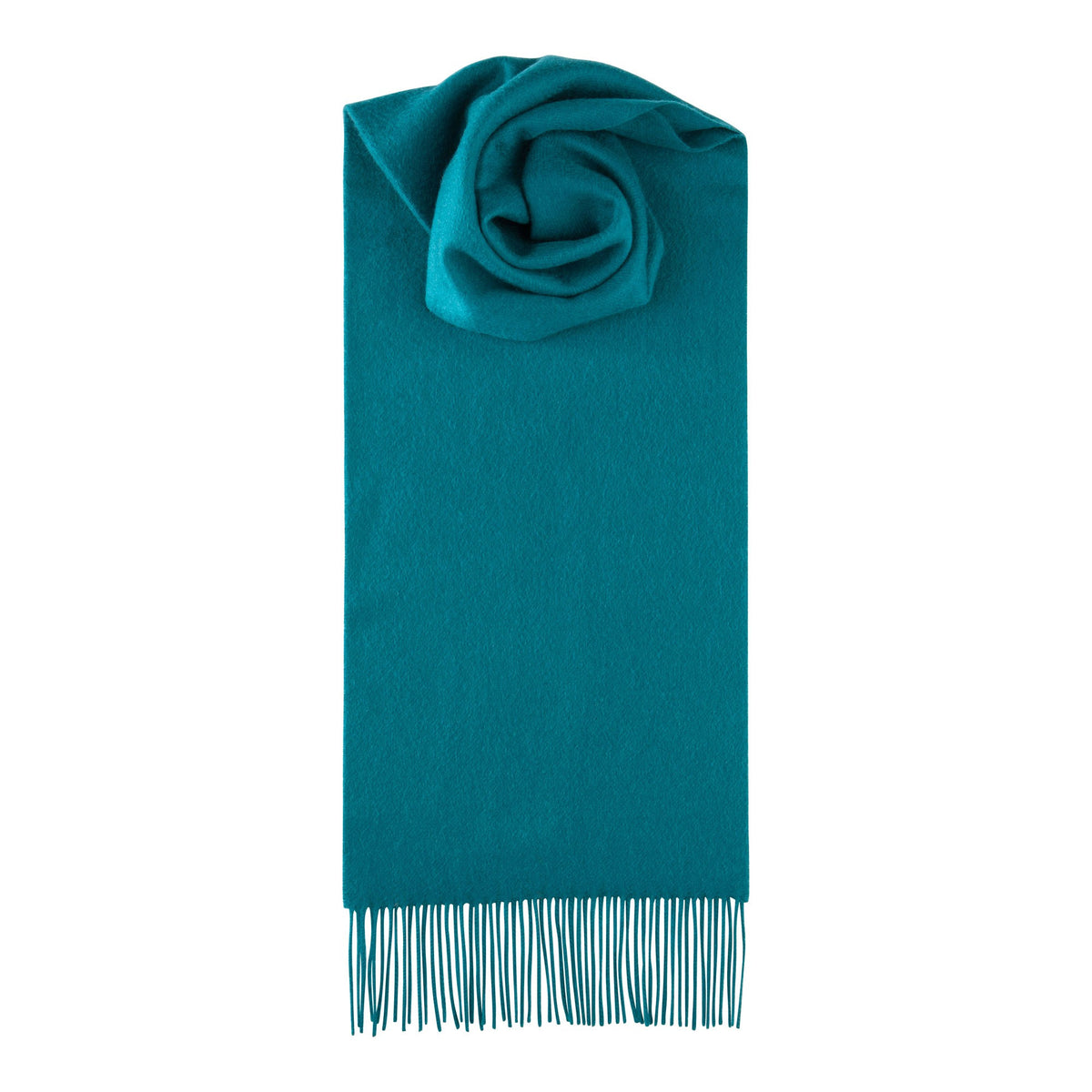 Johnsons of Elgin | Dark Jade Green Cashmere Scarf | buy at The Cashmere Choice | London