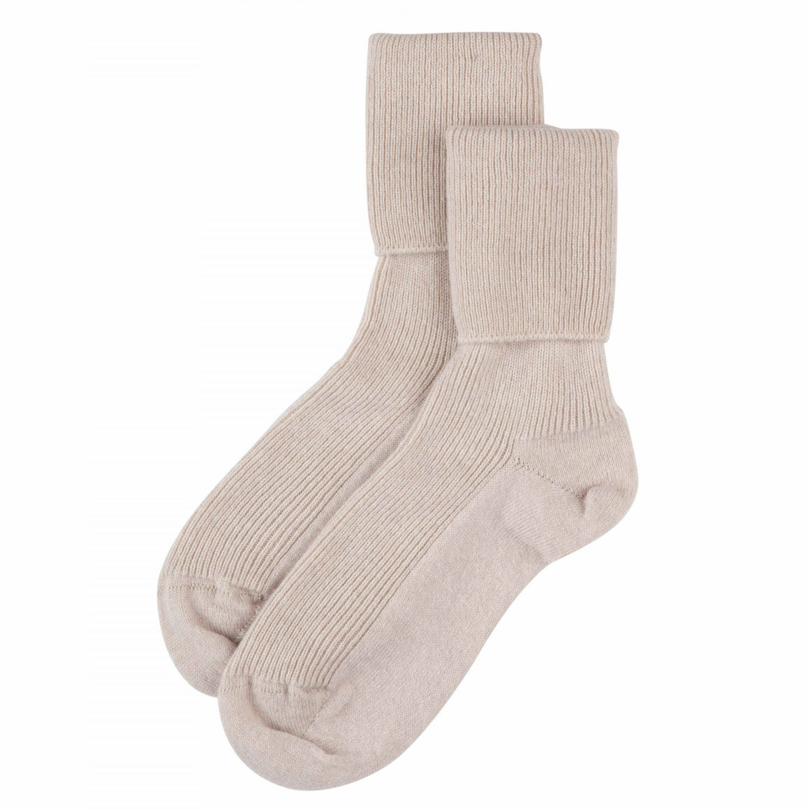 Ladies White Cashmere Socks | Bed Sock | buy now at The Cashmere Choice London