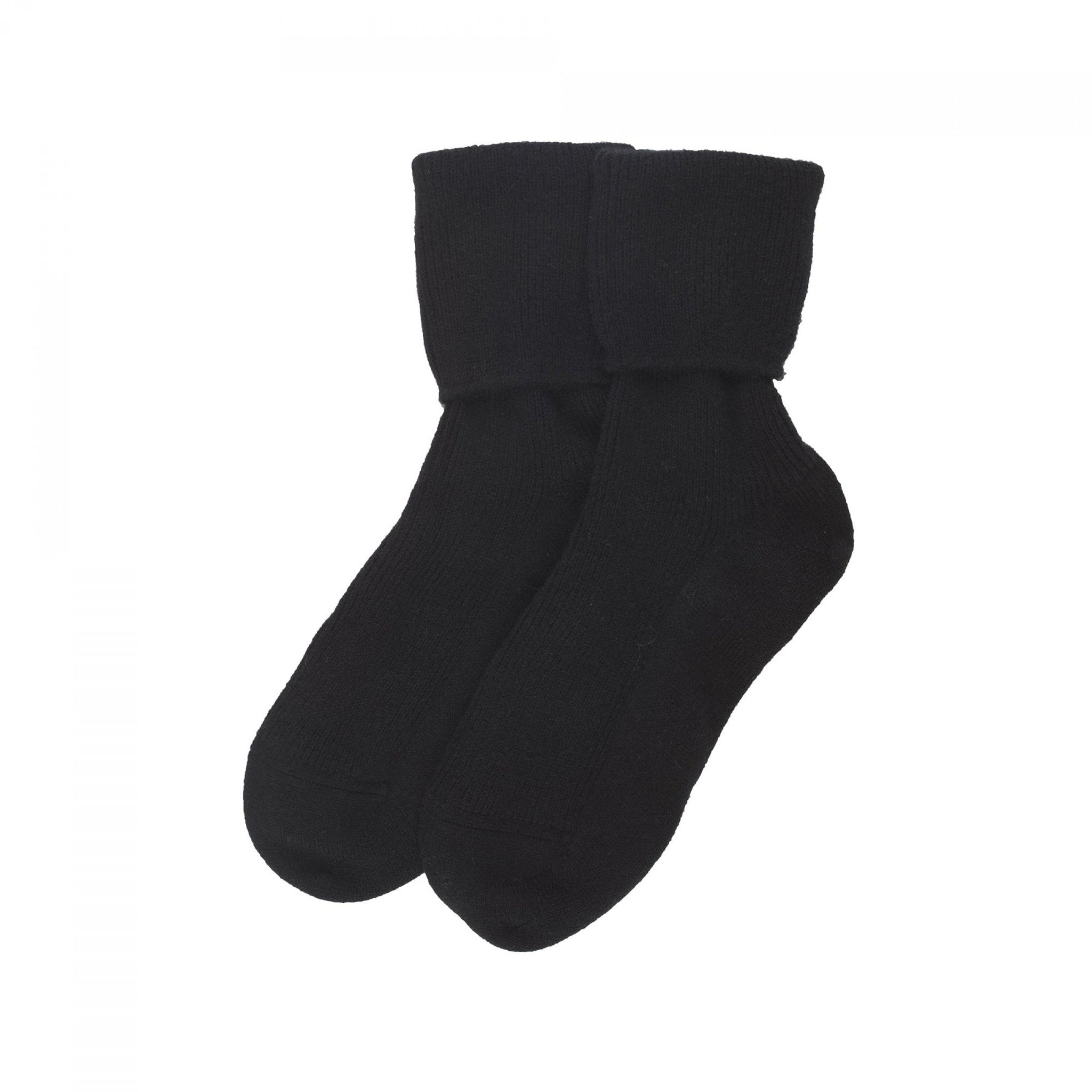Ladies Black Cashmere Socks | Bed Sock | buy now at The Cashmere Choice London
