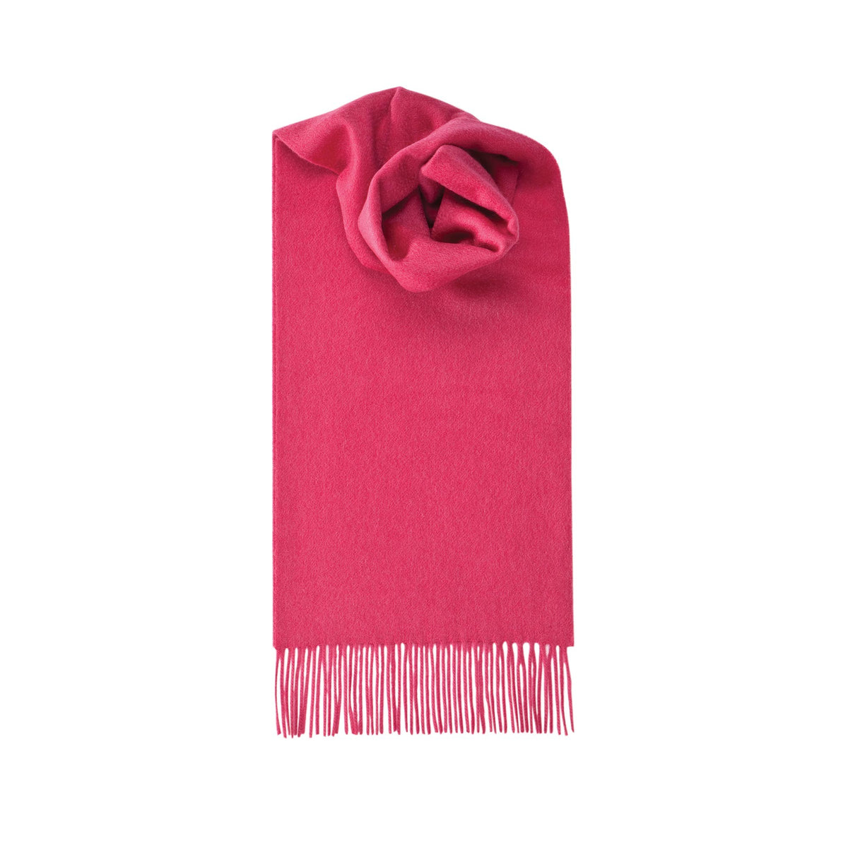 Johnsons of Elgin | Hot Pink Cashmere Scarf | buy at The Cashmere Choice | London