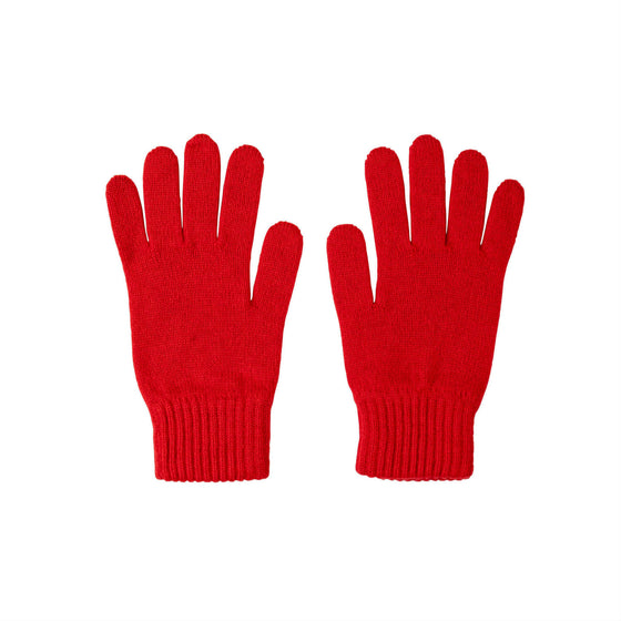 Johnstons Cashmere | Red Cashmere Gloves | Made in Scotland | shop at The Cashmere Choice | London
