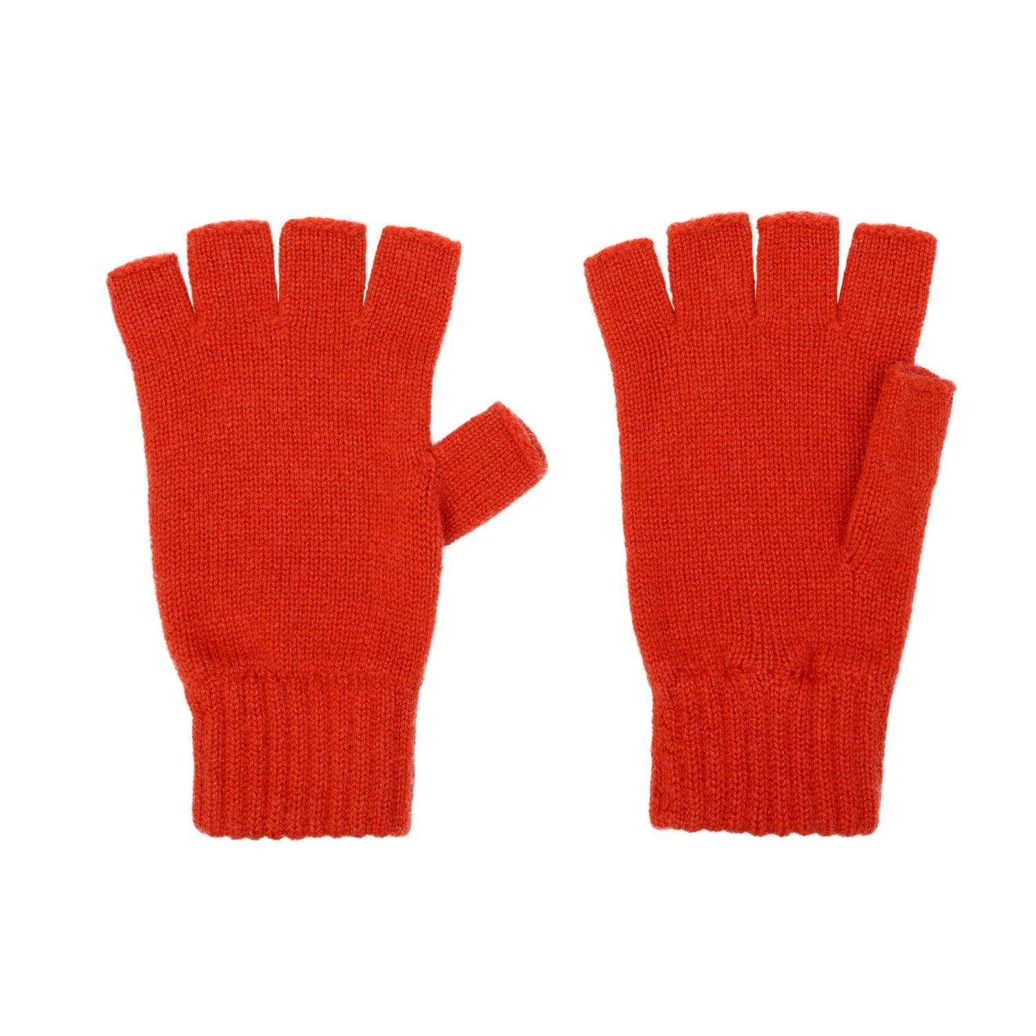 8b2568df330d3 Amaranth Orange cashmere fingerless gloves | Made in Scotland | buy now at  The Cashmere Choice ...