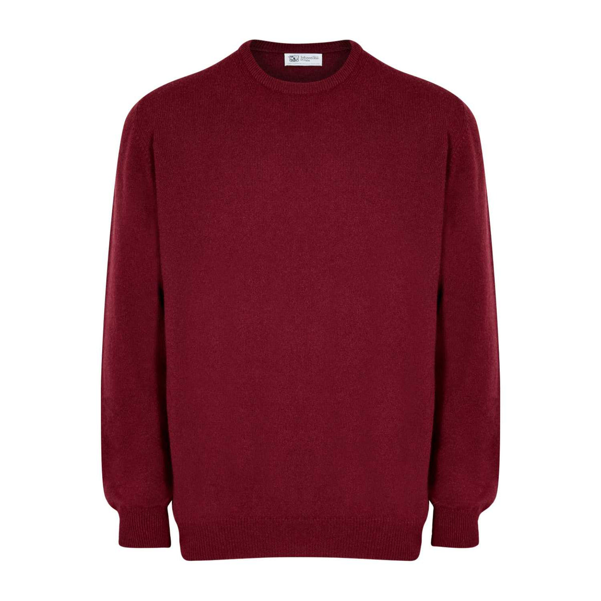 Johnsons Cashmere | Mens Cabernet Wine Cashmere Sweater | 3 ply Cashmere | shop now at The Cashmere Choice | London