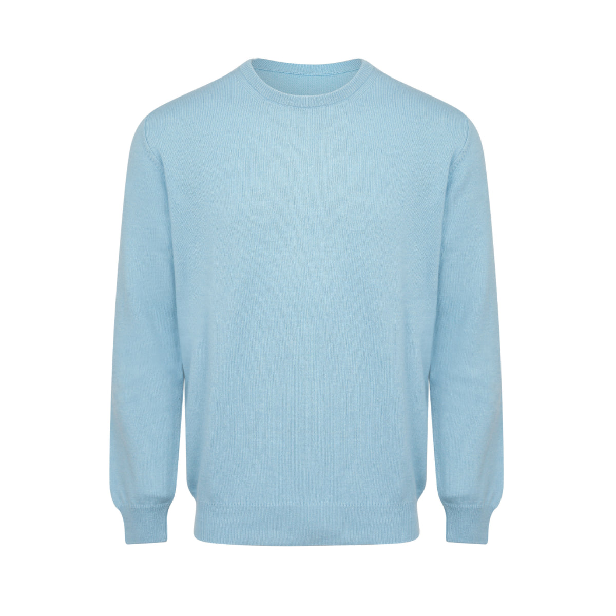 Johnsons Cashmere | Mens Light Blue Cashmere Sweater | 3 ply Cashmere | shop now at The Cashmere Choice | London