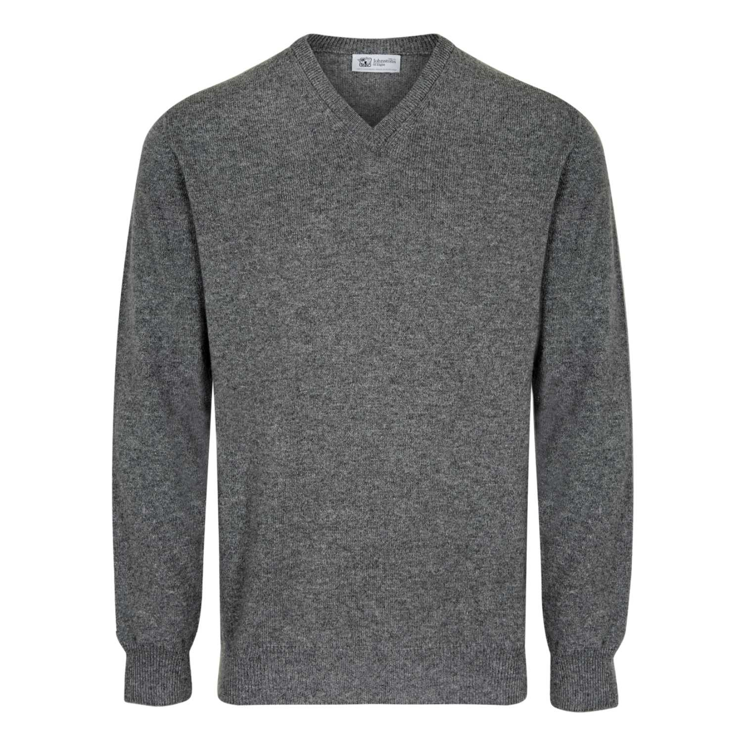 Johnstons of Elgin Mens 3 Ply Cashmere V Neck Sweater