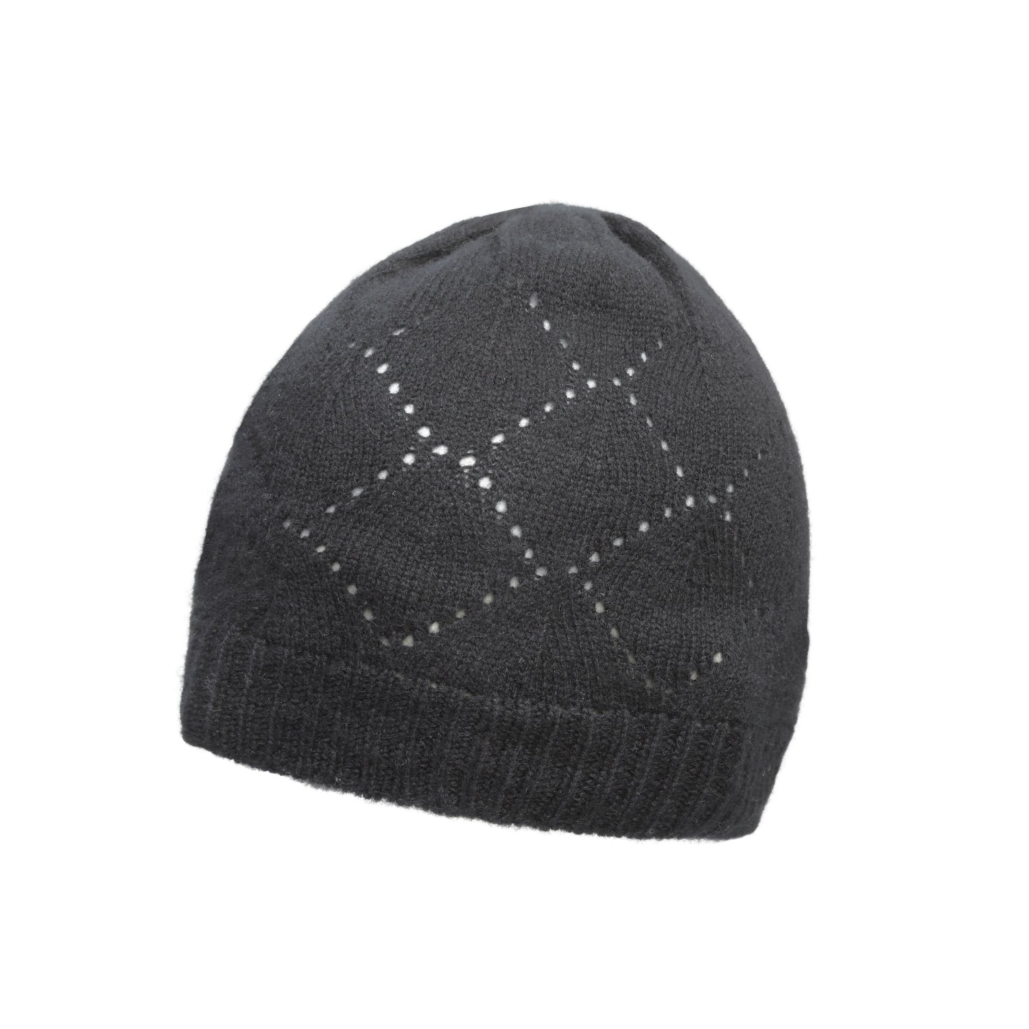 Johnstons Cashmere - Pointelle Knit - Pure Cashmere Beanie - The ... 978a2dc99752