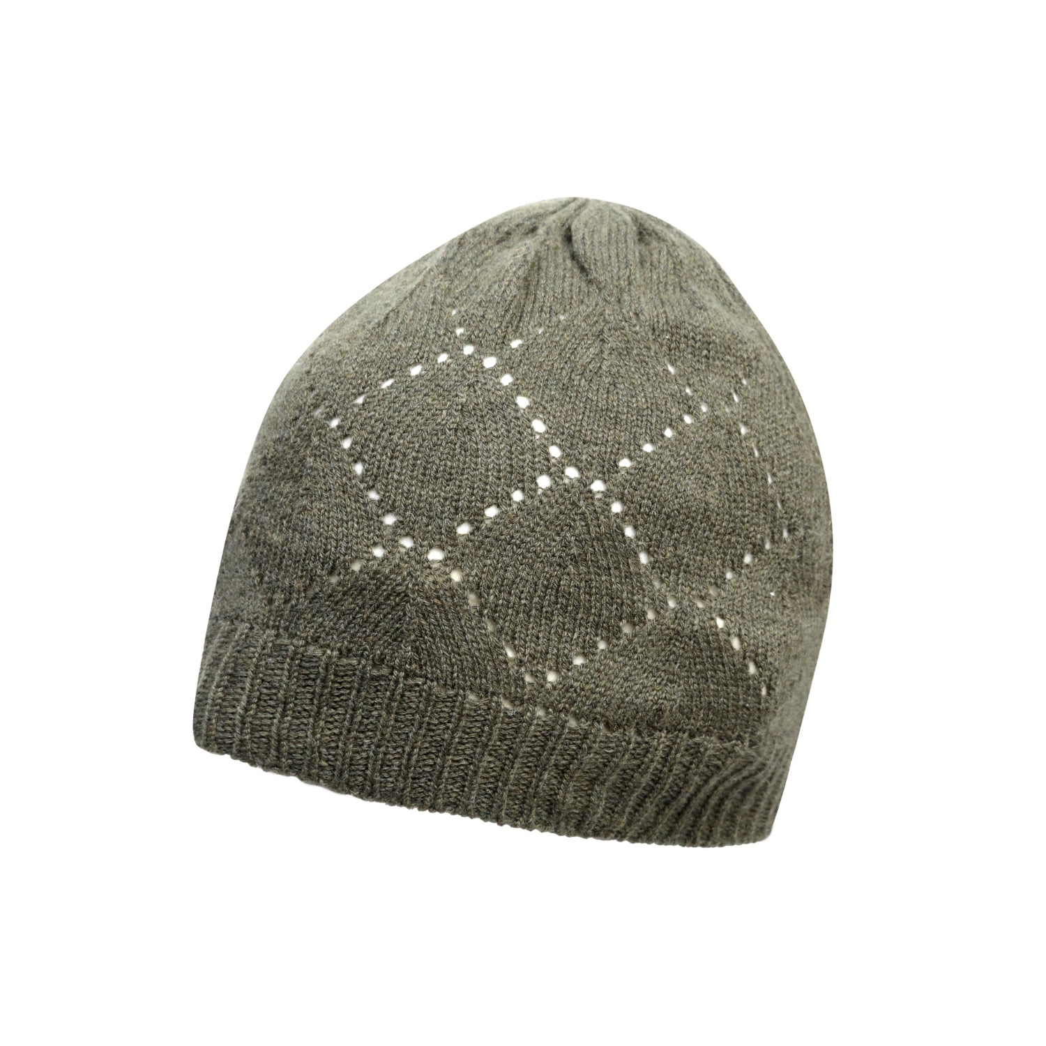 beb8ae219ab Johnstons Cashmere - Pointelle Knit - Pure Cashmere Beanie - The ...