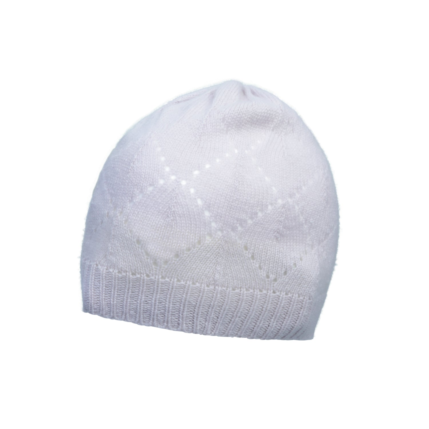 51398ea0cb863 Johnstons Cashmere - Pointelle Knit - Pure Cashmere Beanie - The ...