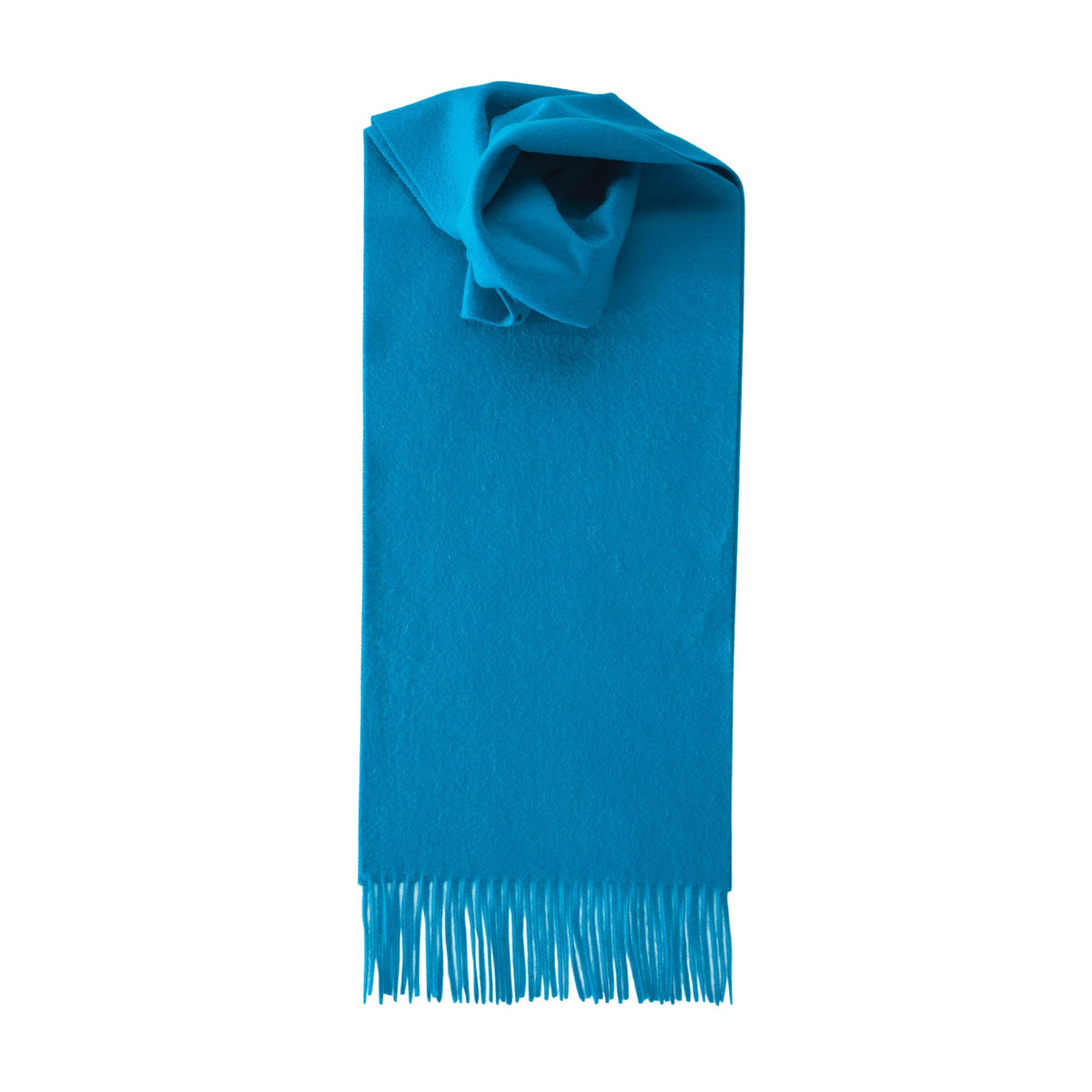 Johnsons of Elgin | Kingfisher Blue Cashmere Scarf | buy at The Cashmere Choice | London