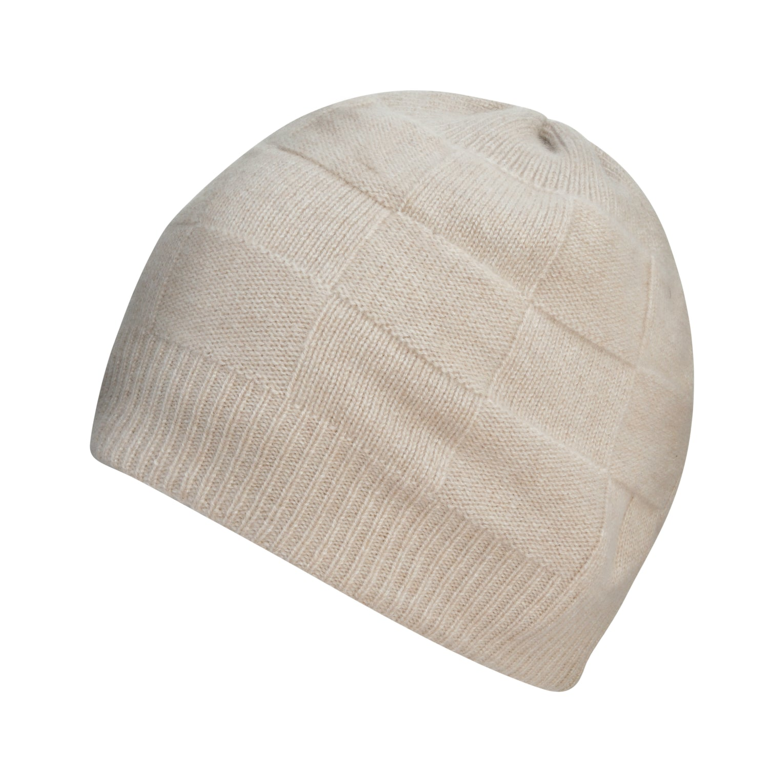 Light Beige Cashmere Beanie | buy now at The Cashmere Choice London