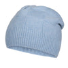 Light Blue Cashmere Beanie | buy now at The Cashmere Choice London