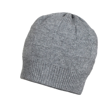 Grey Cashmere Beanie | buy now at The Cashmere Choice London