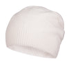 White Cashmere Beanie | buy now at The Cashmere Choice London